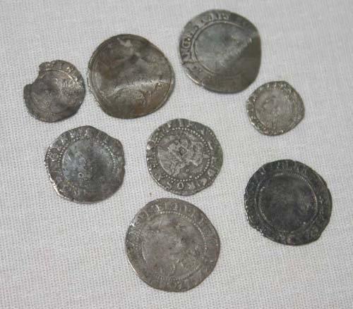 18: lot of 8 Elizabethan coins (16thC)