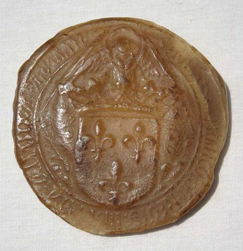 19: late 18th/early 19thC French wax seal retaining som