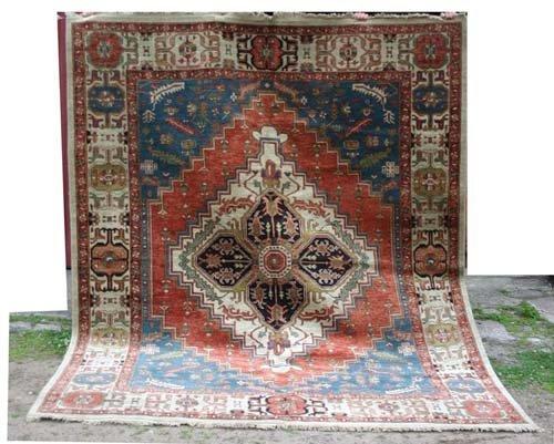 "21: Fine 8'9""x9'10"" Agra Serapi Oriental Rug"