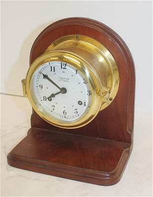 Weems & Plath German ship's clock - time & chime ca