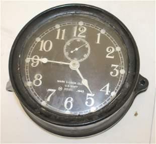 "Mark I - Deck Clock US Navy - Bakelite - ca 1943 - 7"""