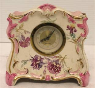 "Mercedes porcelain clock Made In Germany - 5 1/2"" tall"