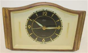 """Art Deco alarm clock - 4"""" tall x 6"""" wide"""