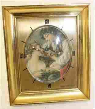 """Swiss Sheffield alarm clock - 4""""x3 1/4"""""""