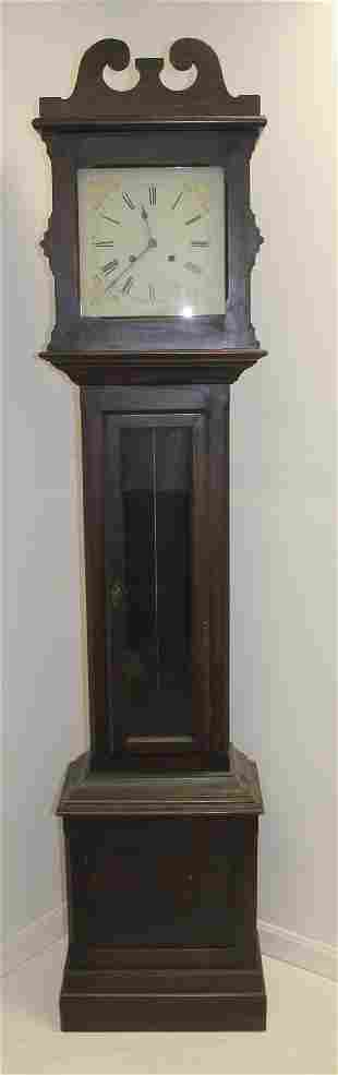"Grandfather clock w new face - 85"" tall x 18"" wide"