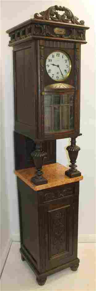 Vedette Grandfather clock w marble shelf & lower