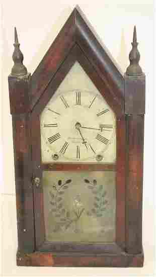 Antique E&A Ingraham Bristol, CT steeple clock w