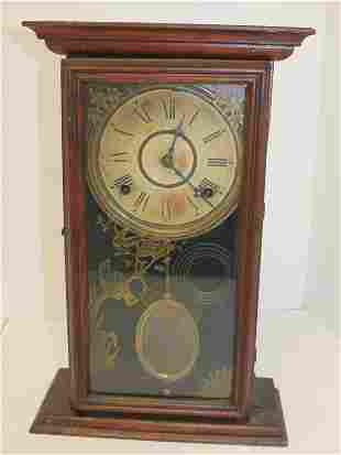 "Antique Wm L Gilbert Clock Co shelf clock - 16 1/2""x10"