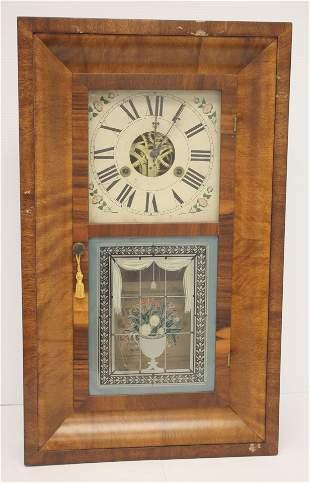 Antique Silas Hoadley OG wall/shelf clock w reverse