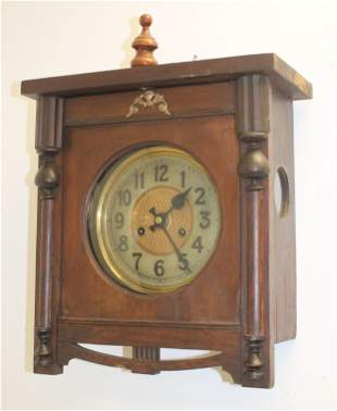 """Antique wag on the wall clock - 17""""x13 1/4"""""""