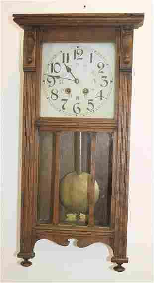 Oak wall clock -