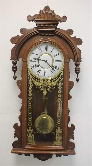 "Korean carved wall clock - 37""x14 1/4"""