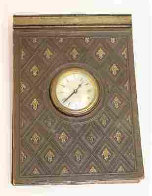 """G.E. Stokes desk calendar alarm clock - 8 1/2""""x6 1/4"""""""