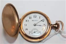 Antique Hampden ladies pocket watch works marked Molly