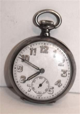 Antique pocket watch marked LF on inside