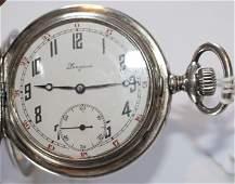 Longines pocket watch in .900 silver case