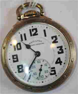 Hamilton Railway Special 21 jewel pocket watch Model
