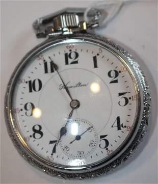 Hamilton 21 jewel salesman sample Model 992 pocket