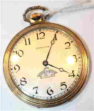 Hamilton 17 jewel pocket watch Model 912  # 3459384 in