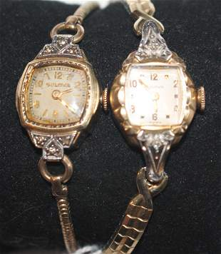 2 Bulova ladies wrist watches