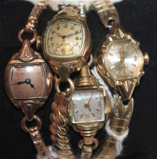 4 Bulova ladies wrist watches