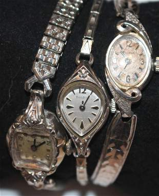 3 Bulova ladies wrist watches