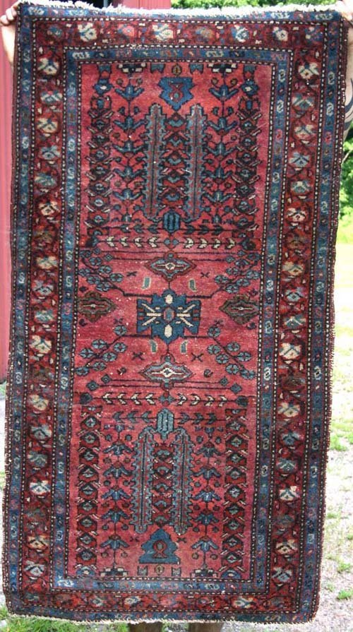 "2: 4'10""x3'7"" antique Persian Lilihan Oriental Area Rug"