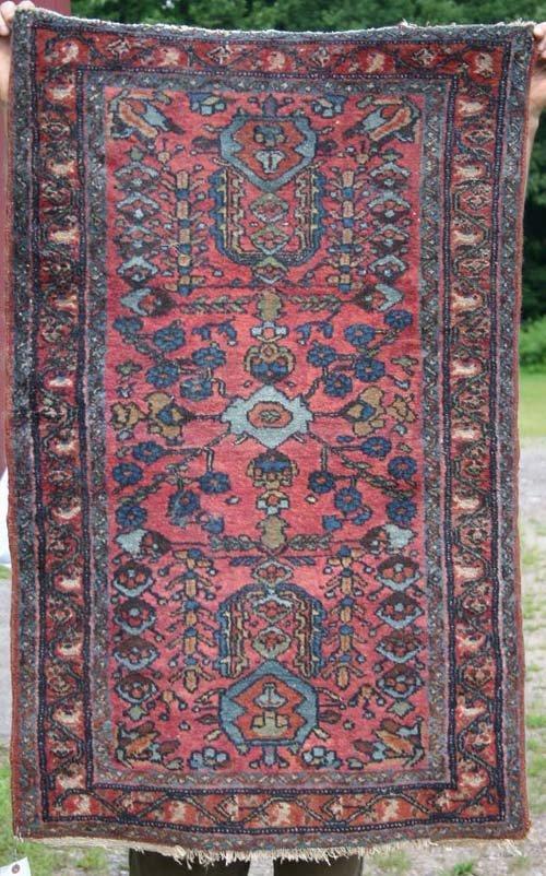 "3: 4'x2'6"" antique Persian Lilihan Oriental Area Rug"