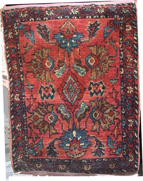 """7: 1'9""""x2'3"""" antique Lilihan Oriental Mat"""
