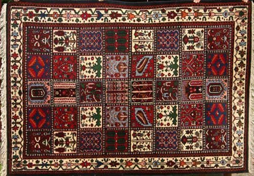 """9: 5'8""""x7'10"""" Garden Bakhtiari semi-antique Oriental Ru"""