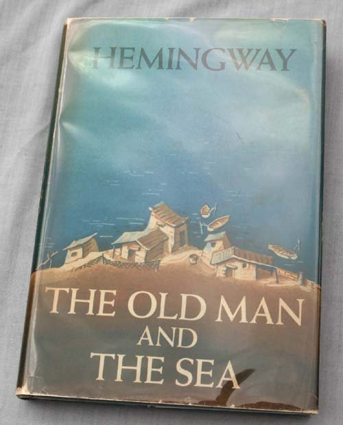 "9E: ""Old Man of the Sea"" by Ernest Hemingway true 1st e"
