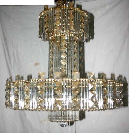 10A: attrib Strass fine quality mutli crystal chandelie