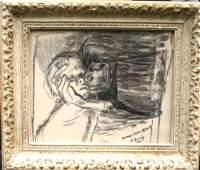 93 Rare Arshile Gorky 19041948 7  x 9  charcoal