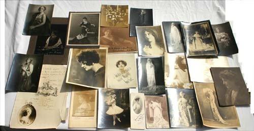 2: 24 vintage opera photos of females - most autographe
