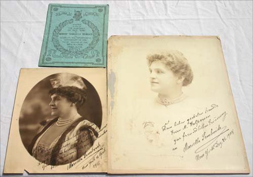 3: 2 vintage opera autographed photographs of Marcella