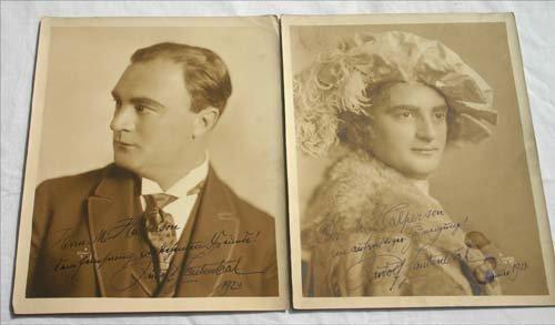 4: 2 vintage opera autographed photographs of Rudolph L