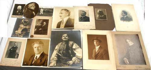 5: 14 vintage opera photos of male actors - 12 autograp