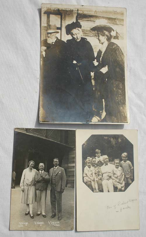 6: 2 postcards - Richard Wagner's son & family & Sigfri