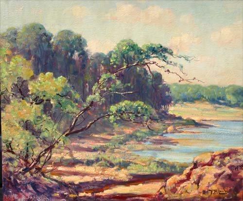 15A: Frederick Mortimer Lamb (1861-1936) 15x18 o/bd lan