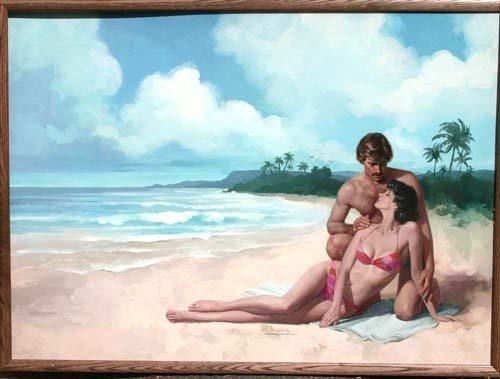 18: Robert Albert Maquire(1921-2005) 18x38 1/2 acrylic