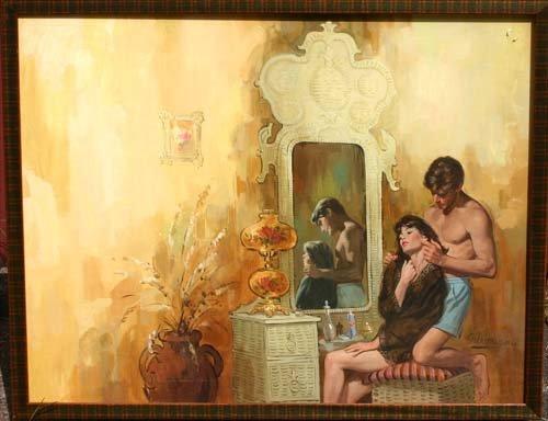 19: Robert Albert Maquire(1921-2005) 22x29 acrylic on b