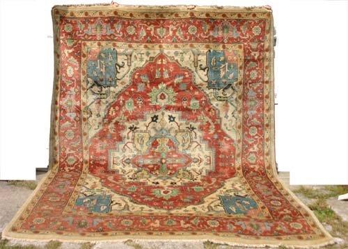 "21: 9x12'3"" very fine Serapi Oriental Rug"