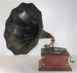 "Victor Talking Machine Phonograph - 15 1/4""x15 1/4""x 8"