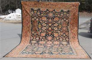 """antique 10'5""""x13'10"""" Persian Oriental room size rug"""