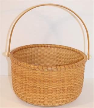 Large Natucket open swing handled basket - approx 11