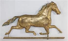 19thC Harris running horse copper weathervane w cast