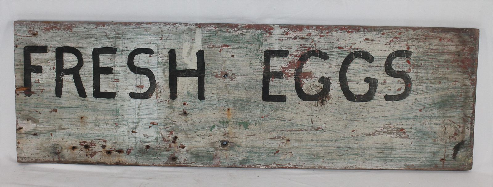 Antique wooden painted double sided trade sign