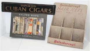 3 piece advertising lot incl Vintage Cuban Cigar