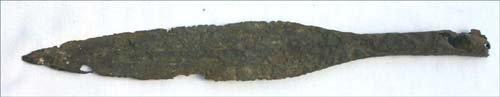"6: Revolutionary War iron pike head - 13 1/4"" long"