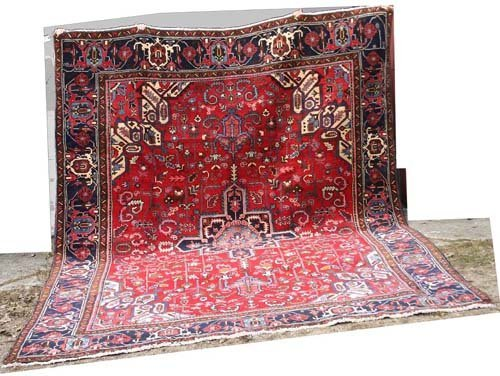 "21: Fine 10' x 13'3"" Persian Heriz Oriental Rug"